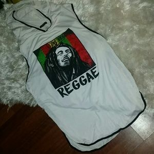 Swim cover-up Reggae themed NEW sz M